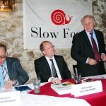 Předseda Slow Food  Ing. Mamula s Arno Glauchem SF Dresden a Ing. Sládkem MZe